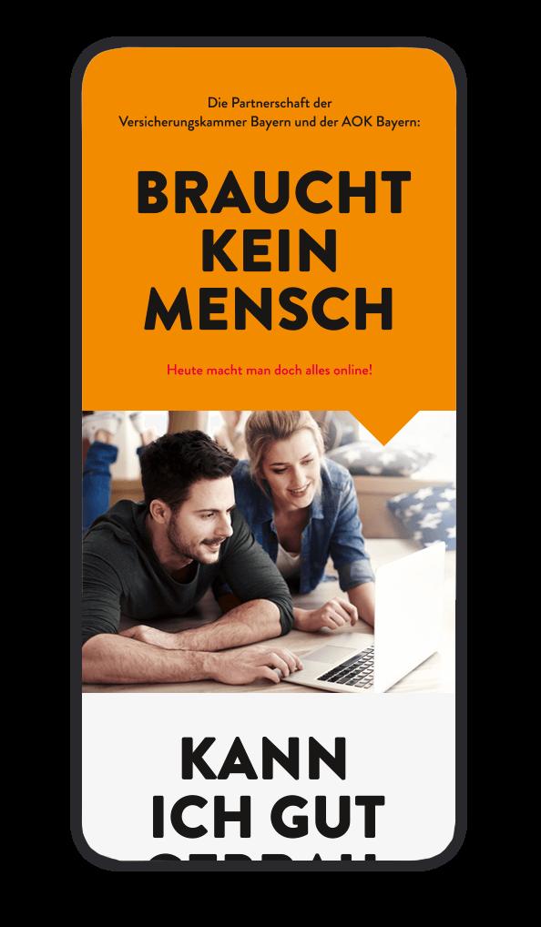 cyclos vkb aok website mobil statisch Marketing Krankenkasse werbeagentur