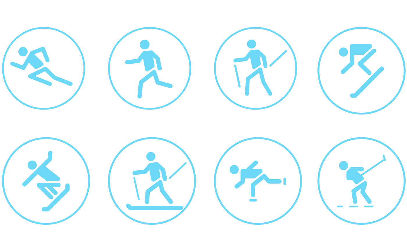cyclos bauerfeind bandage stuetzstrumpf icons piktogramme grafiken