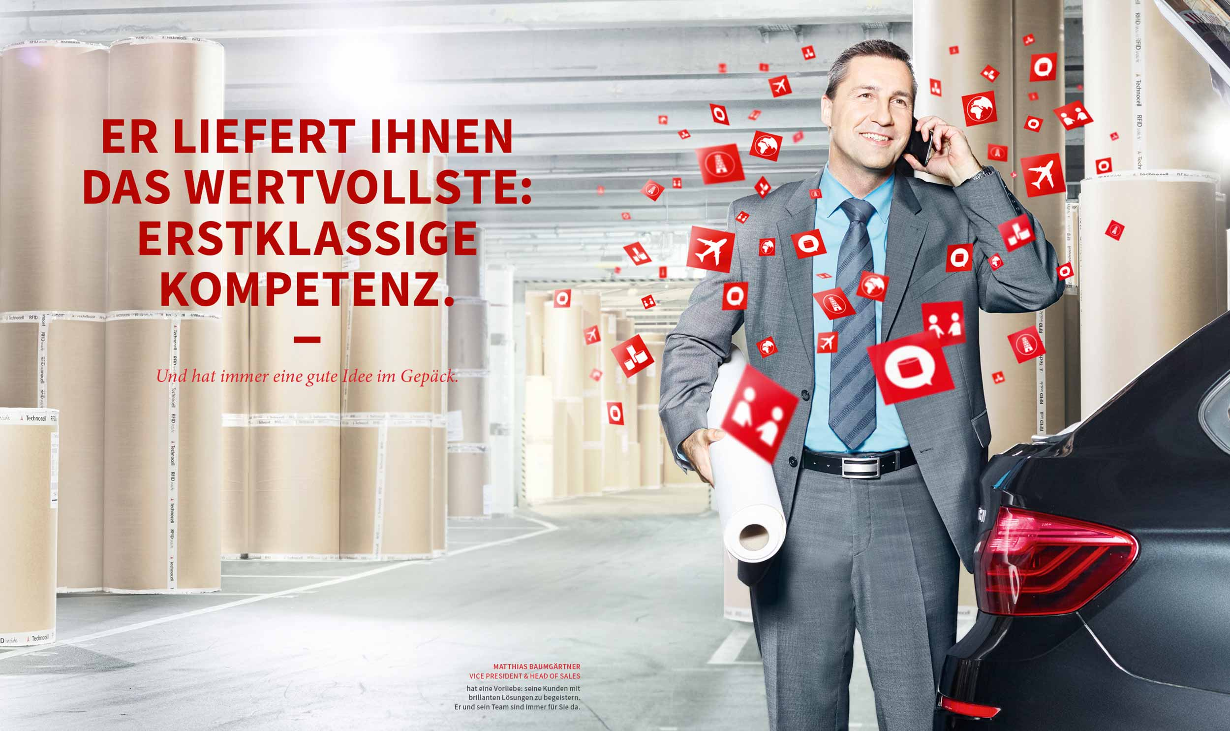 cyclos technocell vlies image kampagne B2B Marketing Werbeagentur