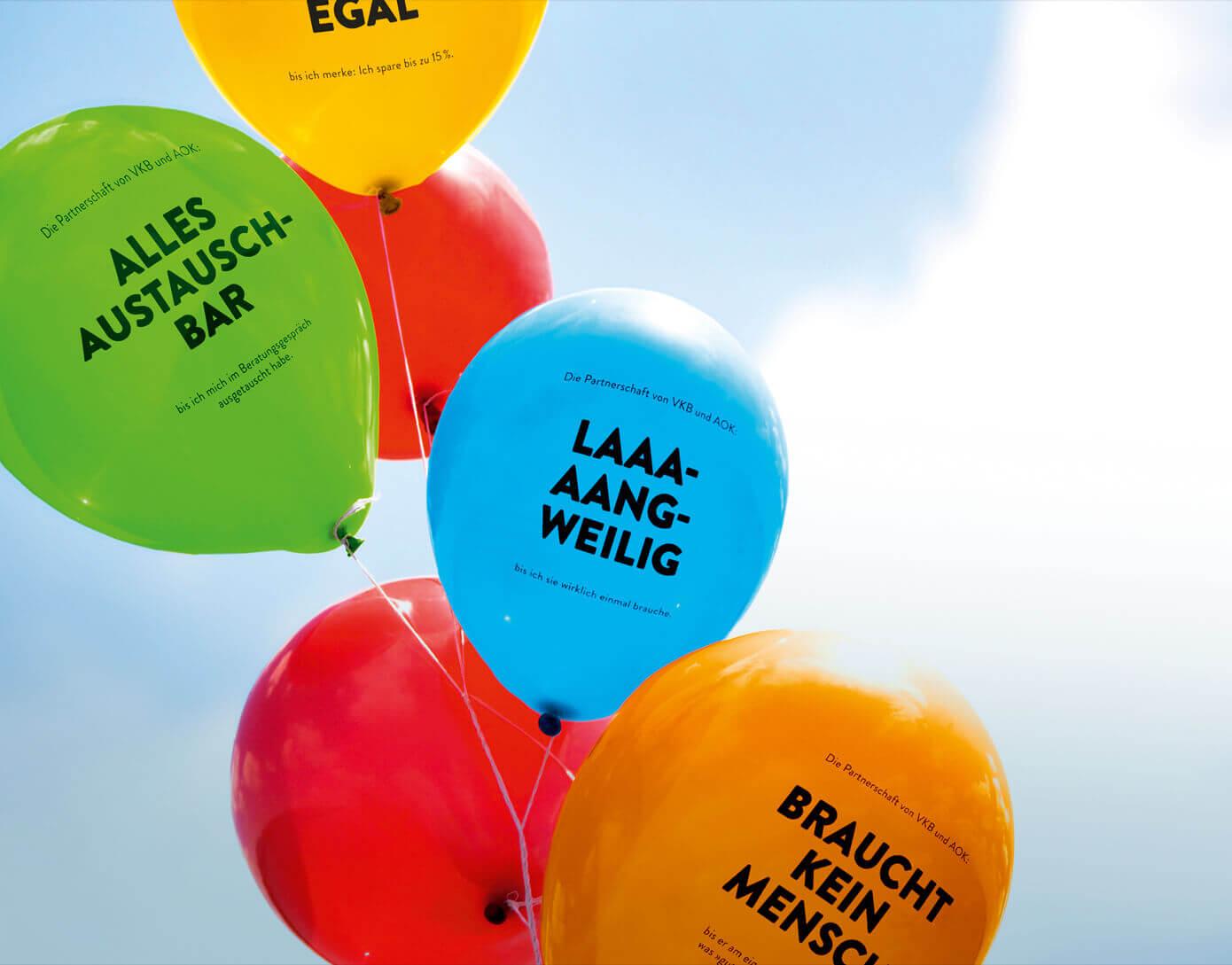 cyclos vkb aok kampagne balloons Marketing Krankenkasse werbeagentur