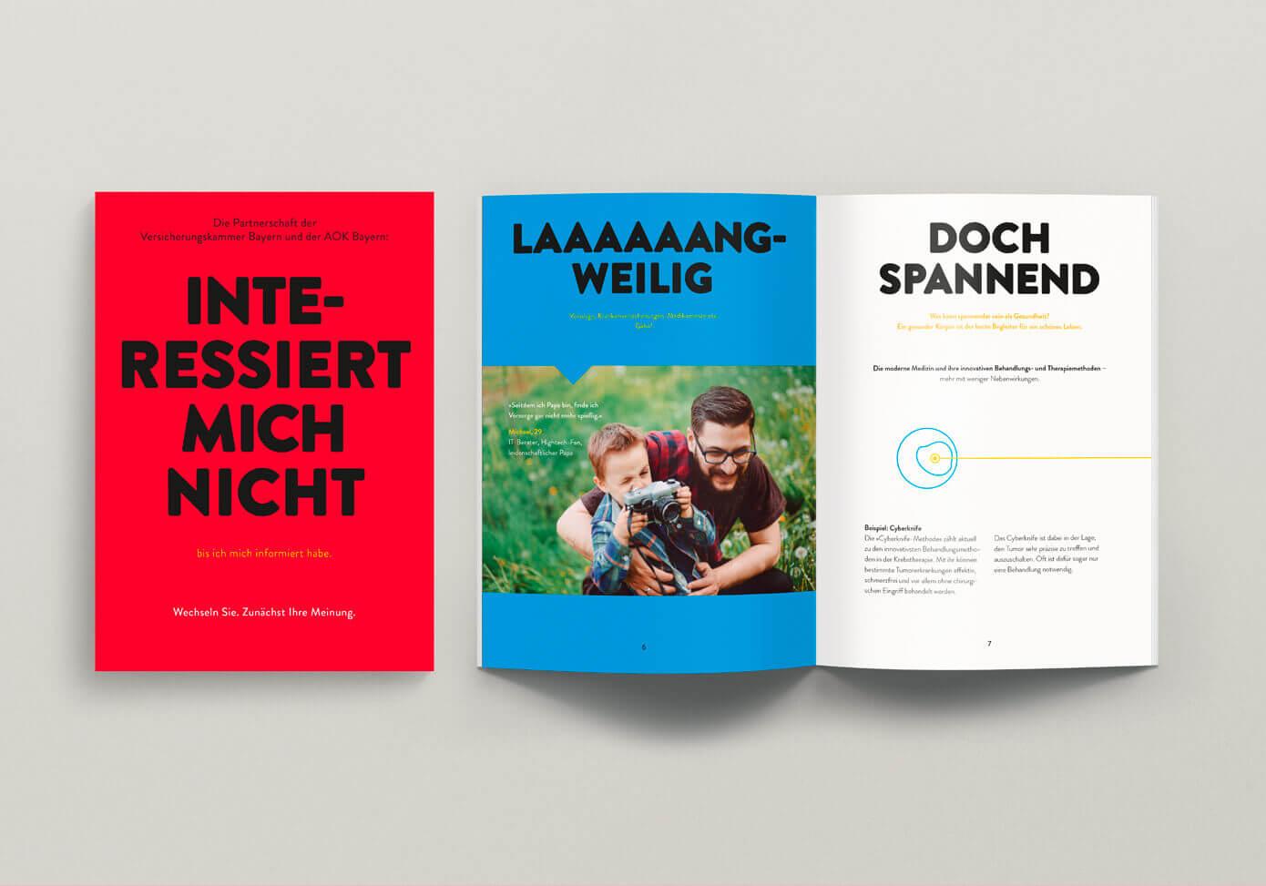 cyclos vkb aok broschuere Marketing Krankenkasse werbeagentur
