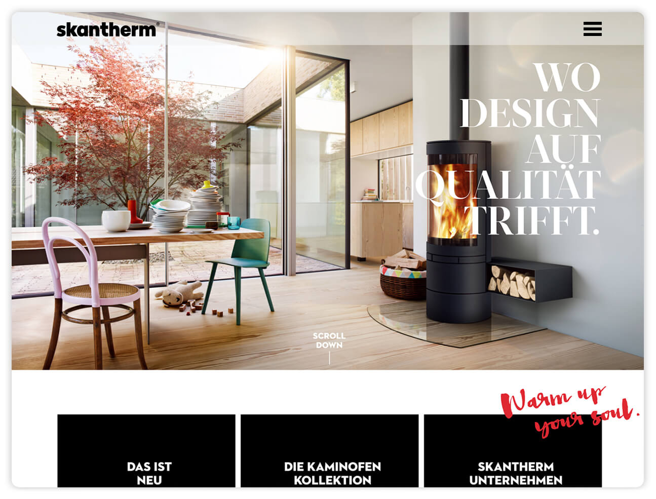 skantherm website webseite webdesign red dot