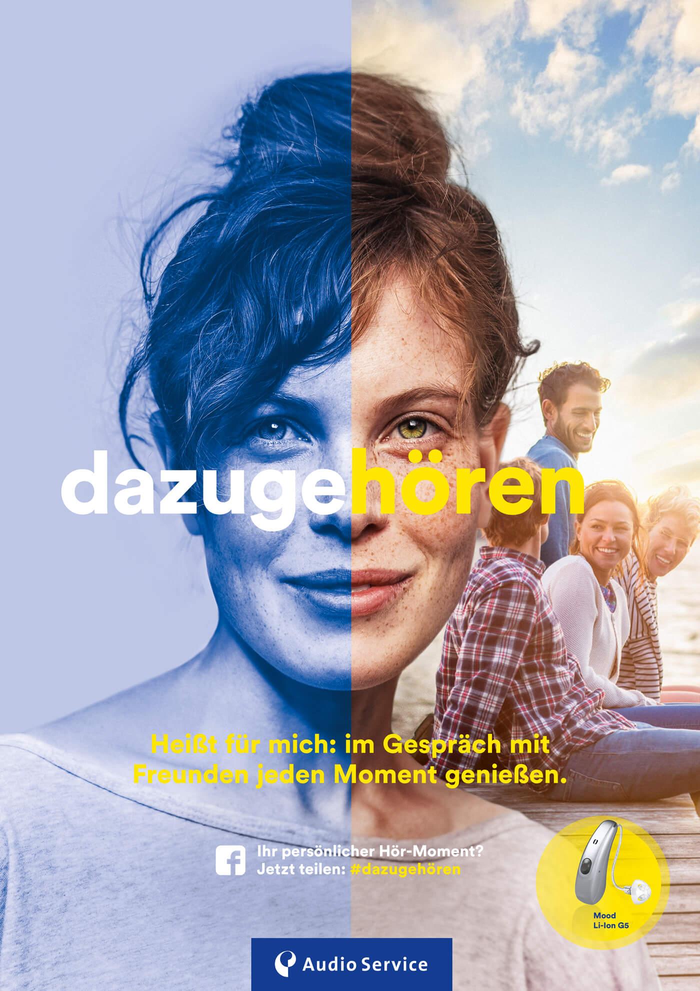cyclos audio service plakat poster serie hoergeraete kampagne werbeagentur