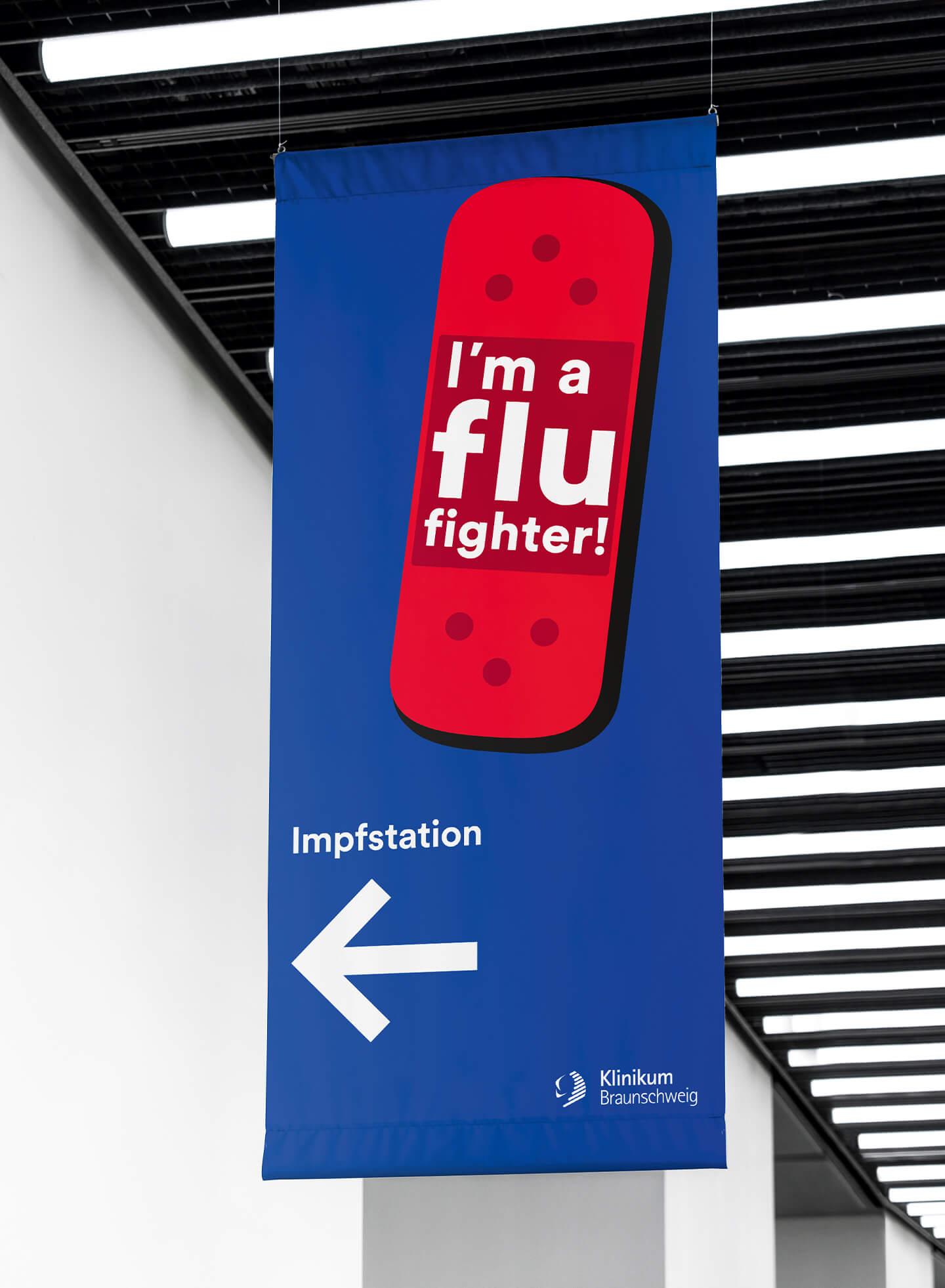 cyclos klinikum braunschweig kampagne flu fighter banner