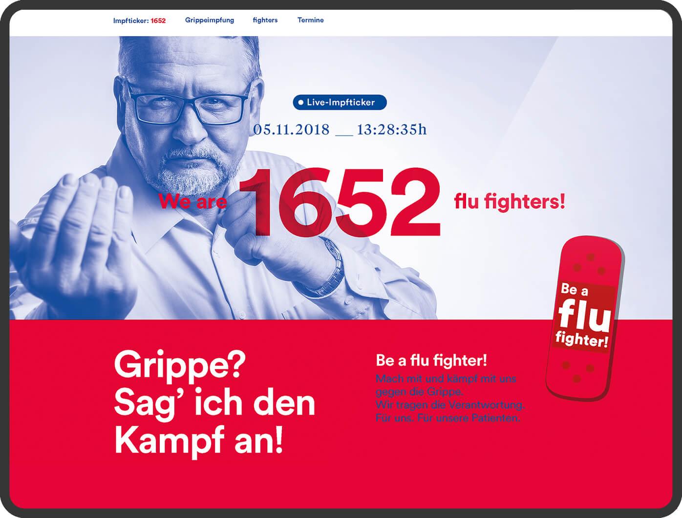 cyclos klinikum braunschweig kampagne flu fighter Werbeagentur Marketing Klinikum
