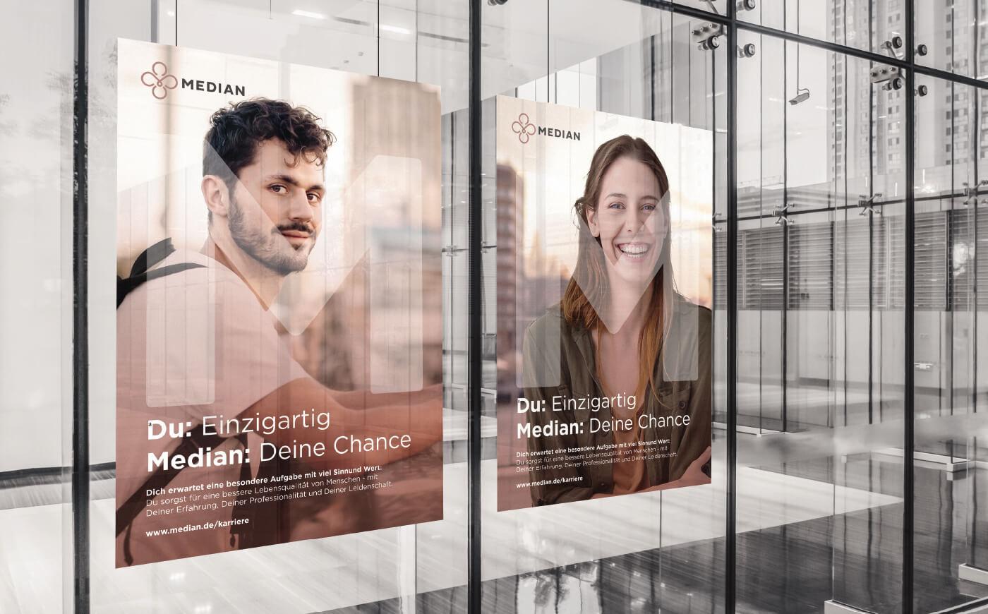 cyclos median klinik krankenhaus poster marketing klinikum