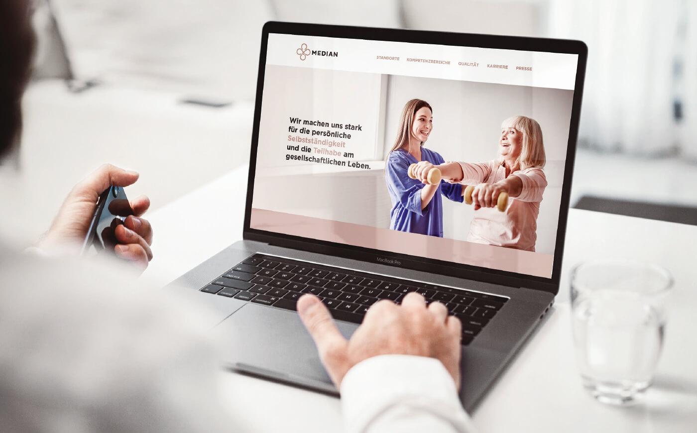cyclos median website klinik webseite